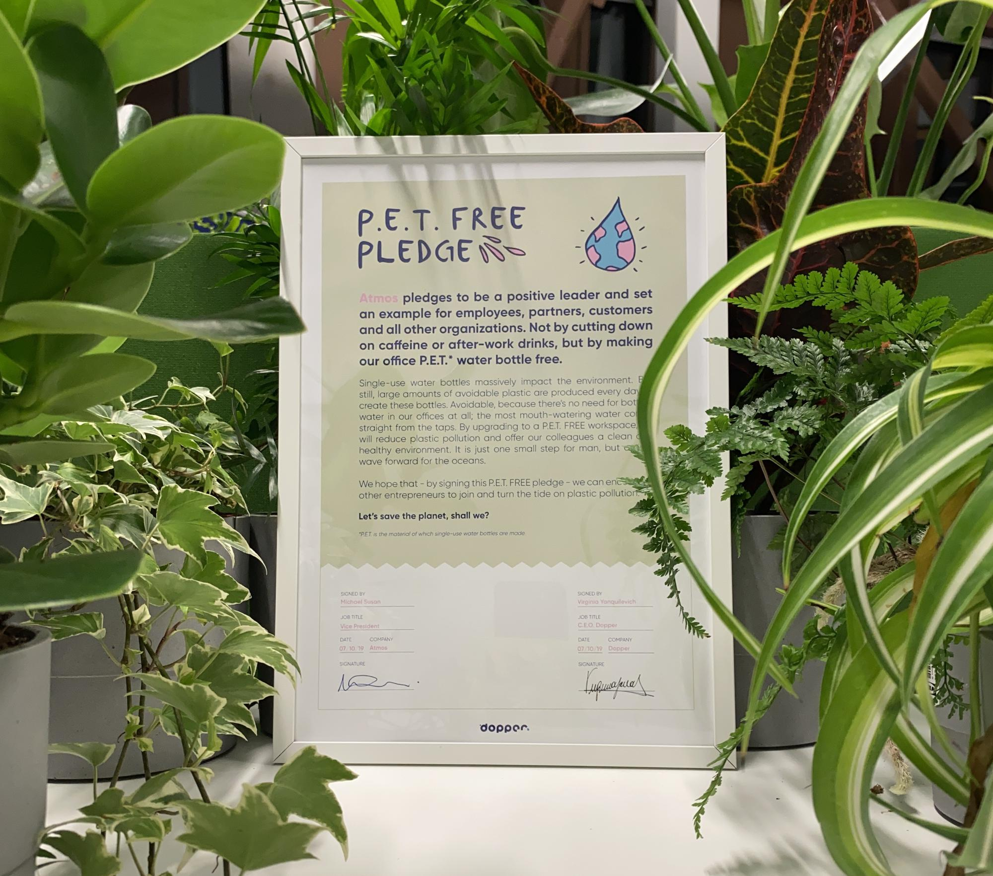 Atmos signs the PET-Free Pledge!